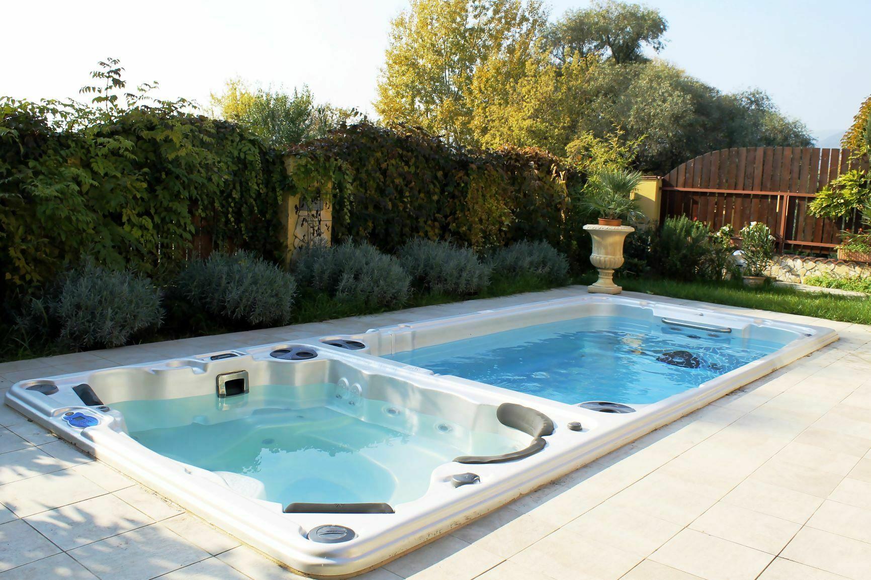 hydropool swim spa and hot tub installation