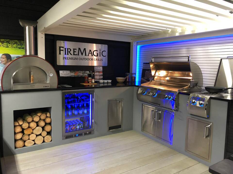 Fire Magic Outdoor Kitchen and Blastcool Fridge