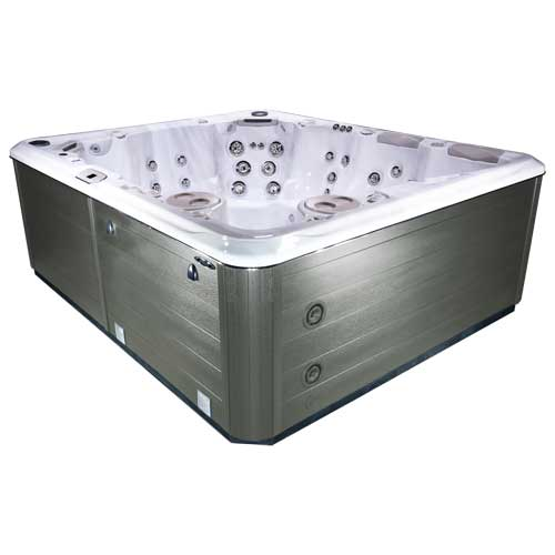 hot tub in Silver Marble driftwood