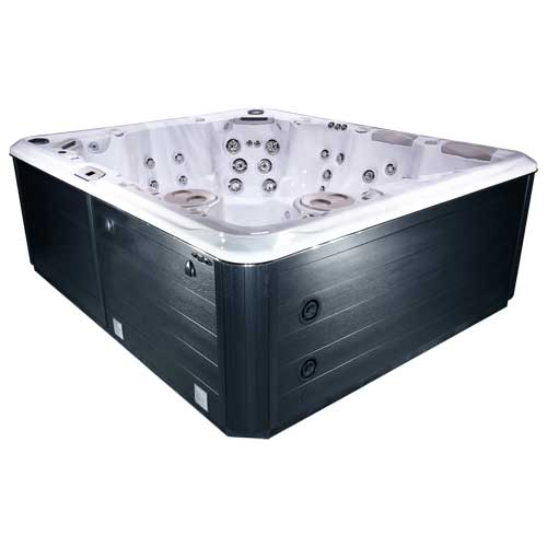 hot tub in Silver Marble midnight