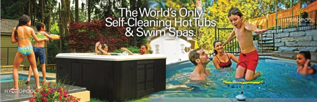 The world's only self-cleaning hot tubs and swim spas banner