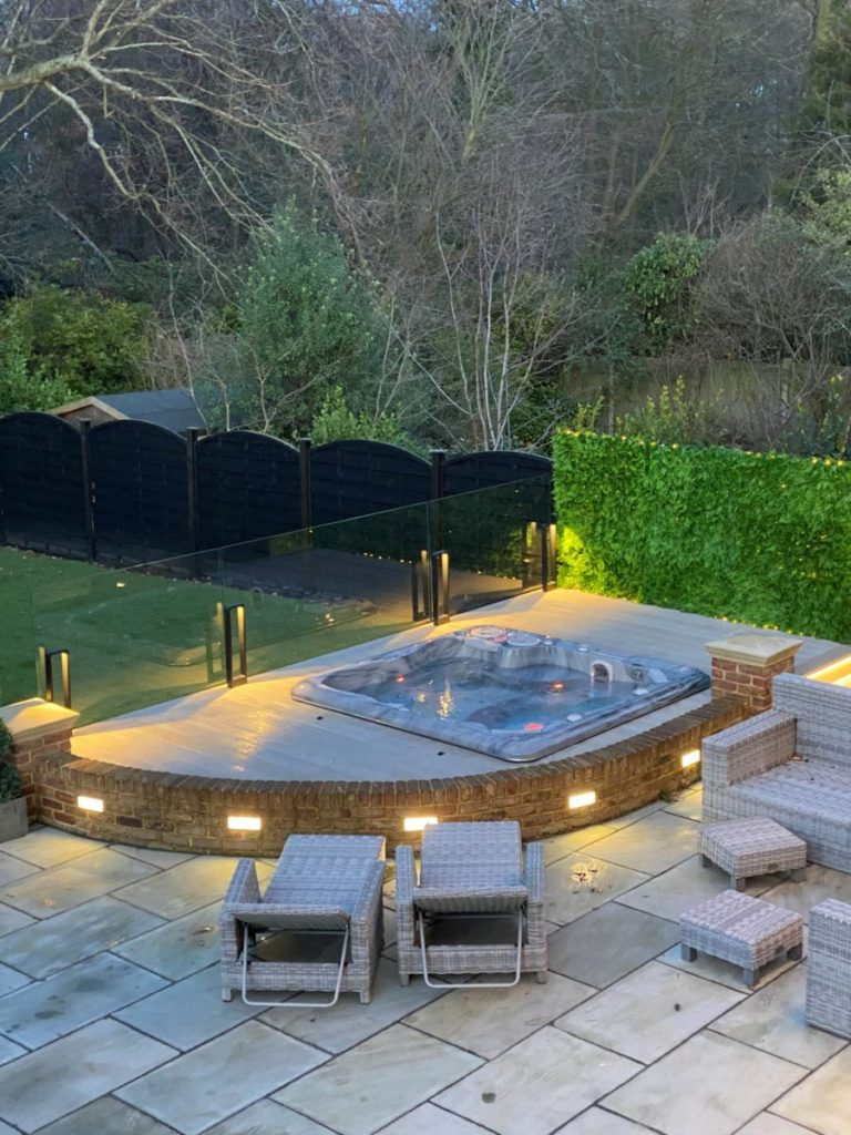 In Ground Hot Tub and Seating