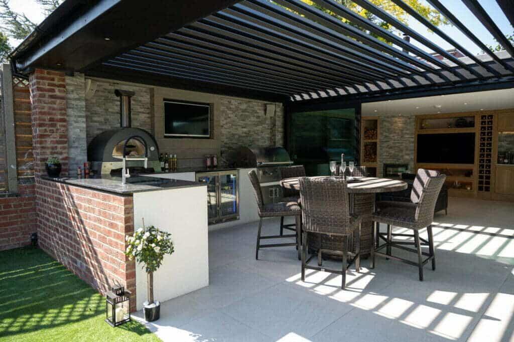Bespoke outdoor kitchen by london essex outdoor living in hertfordshire