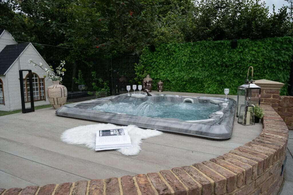 Hydropool hot tub london essex outdoor living